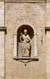 Statue on the Church of San Pietro in Volterra Royalty Free Stock Photography