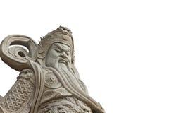 Statue cinesi del dio su priorità bassa bianca Immagine Stock