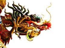 Statue cinesi del drago isolate Fotografia Stock Libera da Diritti