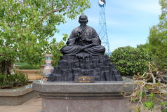 Statue cinesi di mitologia in tempio cinese Fotografia Stock