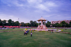 Statue circle in Jaipur rajasthan with people Stock Photos
