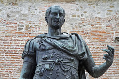 Statue of the city founder Julius Caesar Stock Image