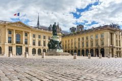 Statue in the city of Reims. Champagne region. France Stock Images
