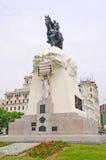 Statue in a City Square Stock Photo