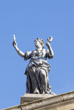 Statue on Clarendon Building in Oxford Stock Photography