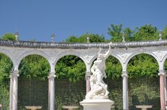 Statue in classical french garden Royalty Free Stock Photos
