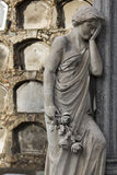 Statue of a classical woman regretting the loss of a beloved one Stock Images