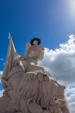 Statue close up  on Augusta street Arch in Lisbon - Portugal Royalty Free Stock Photography