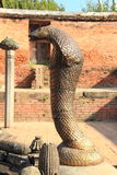 Statue of cobra in Bhaktapur, Nepal. Stock Image