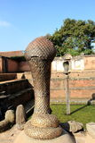Statue of cobra in Bhaktapur, Nepal. Royalty Free Stock Photography