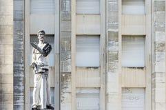 Statue in Coimbra University Stock Image