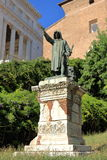 Statue of Cola Di Rienzo in Rome, Italy. Statue of Cola Di Rienzo by Girolamo Masini in Rome, Italy Stock Photo