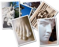 Statue collage Royalty Free Stock Photos