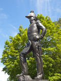 Statue of Colonel John By, engineer overlooking the Rideau canal Royalty Free Stock Photography