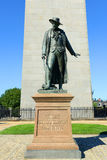 Statue of Colonel William Prescott, Charlestown, Boston. Statue of Colonel William Prescott in front of Bunker Hill Monument in Charlestown, Boston Royalty Free Stock Photos