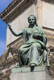 Statue in the Colonne du Congres, Brussels. Belgium, Europe royalty free stock photos