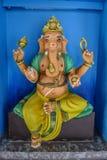 Statue colorée de ganesha d'éléphant prête à aider Images stock
