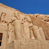 Statue colossali di Rameses II, Abu Simbel, Egitto Immagini Stock