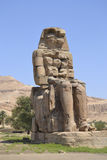 Statue of the Colossus of Memnon Royalty Free Stock Photography