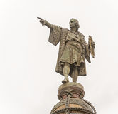 Statue of Columbus in Barcelona, Spain Stock Photos
