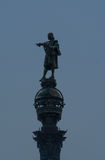 Statue of Columbus. Statue of Christopher Columbus pointing west Royalty Free Stock Images