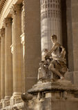 Statue and columns Royalty Free Stock Photography