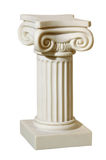 Statue of columns in Greek style. A modern copy of plaster. Isolated background Stock Images