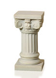 Statue of columns in Greek style. A modern copy of plaster. Isolated background Stock Image