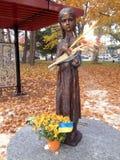 Statue commémorative de Holodomor à Toronto photographie stock libre de droits