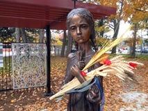 Statue commémorative de Holodomor à Toronto images libres de droits