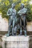 Statue commémorative de Joseph Lanner et de Johann Strauss l'aîné dedans Images stock