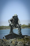 Statue commémorative du pêcheur Photos libres de droits