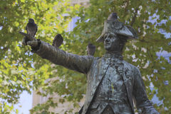 Statue of Commander Rochambeau at the rue de Galiera and rue de Chaillot in the 16th ar, honors Revolutionary War hero of Seige of Royalty Free Stock Photo