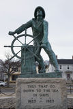 Statue commemorating fisherman lost at sea, Gloucester, Massachusetts, USA Stock Image