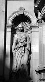 Statue of Commerce on former bank, Dundee, Scotland Royalty Free Stock Images