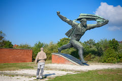 Statue communiste en parc communiste, Budapest Images stock