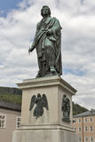 Statue of composer Mozart in Salzburg Stock Images