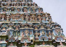Statue composition on Gopuram. Royalty Free Stock Image