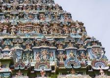 Statue composition on Gopuram. Royalty Free Stock Image