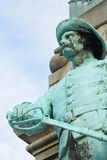 Statue of Confederate Soldier. On monument in Louisville, Kentucky. Symbolizes continuing legacy of the American Civil War stock image