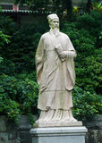 Statue of Confucius in China. Statue of Confucius at park in China Stock Image