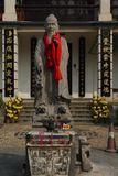 Statue of Confucius in Chinese temple Stock Image