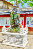Statue of Confucius, the great Chinese philosopher in Temple of Stock Photo