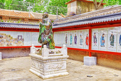 Statue of Confucius, the great Chinese philosopher in Temple of Royalty Free Stock Image