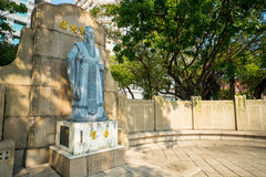 Statue of Confucius in taipei city Stock Image