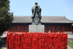 Statue of Confucius and temple, Beijing Royalty Free Stock Photos