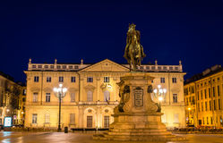 Statue and Conservatory on Bodoni square in Turin Stock Photos