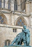 Statue of Constantine. At York Minster, England stock images