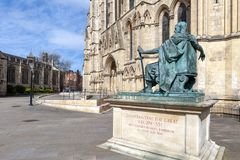 Statue of Constantine The Great, City of York in England, UK stock photography