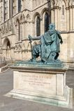Statue of Constantine The Great, City of York in England, UK stock photo